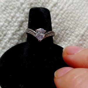 NWOT Silver Ring with CZ stones